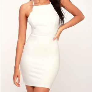 WORN ONCE Lulus Hearts Content White Bodycon Dress